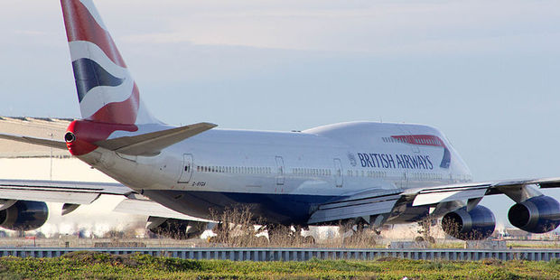 Terrified passengers on a British Airways Boeing 747 were forced to return to Heathrow when landing gear failed. Photo / Wikimedia Commons