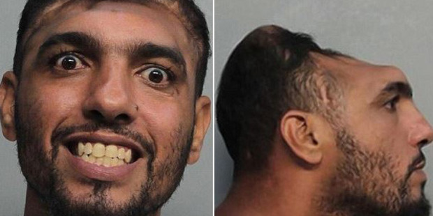 Carlos Rodriguez - 'Halfy' to his friends - was arrested on Monday after allegedly setting his mattress on fire outside his house at 266 NW 61 Ave. Photos / Supplied