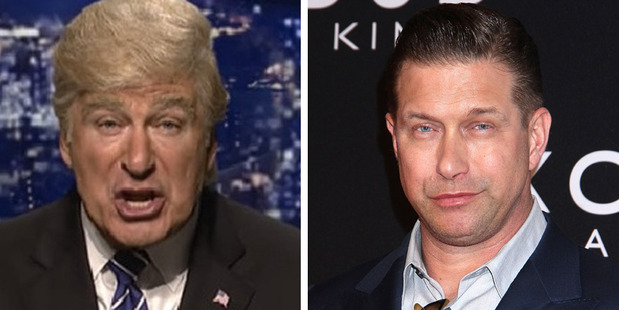 Loading Alec Baldwin as Donald Trump on SNL and his brother Stephen Baldwin. Photo / SNL, Getty