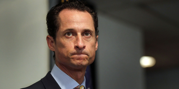 Rep. Anthony Weiner announces his resignation June 16, 2011 in the Brooklyn borough of New York City. Photo / Getty