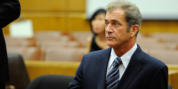 Actor Mel Gibson attends a hearing in a Los Angeles County Courthouse to finalize financial issues between him and his former girlfriend Oksana Grigorieva. Photo / Getty