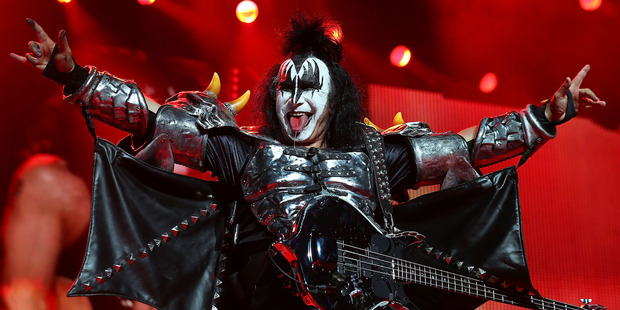Gene Simmons of KISS performs live on stage as part of their Monster Tour with Motley Crue and Thin Lizzy at Perth Arena on February 28, 2013 in Perth, Australia. Photo / Getty