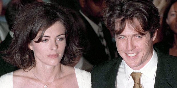 English actors Hugh Grant and Liz Hurley at the Los Angeles premiere of 'Nine Months', 11th July 1995. Photo / Getty