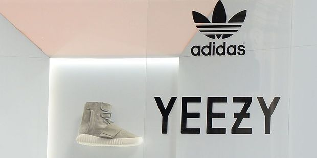 View of the Adidas Store in Soho where Kanye West Adidas Originals 'Yeezy Boost' sneakers are on display in the window. Photo / Getty Images