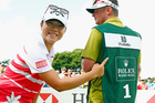 Lydia Ko has split with caddy Jason Hamilton as she seeks to recover from a form slump. Photo / Getty