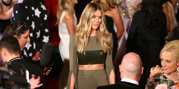 Jennifer Hawkins arrives at the 58th Annual Logie Awards at Crown Palladium on May 8, 2016 in Melbourne. Photo / Getty