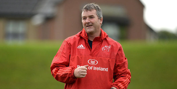 Munster head coach Anthony Foley passed away ahead of the team's game in Paris. Photo / Getty Images