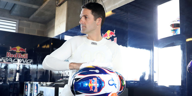Jamie Whincup prepares for the warm up session for the Bathurst 1000. Photo / Getty Images