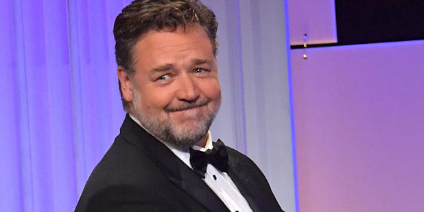 Host Russell Crowe raised a few eyebrows at the 30th Annual American Cinematheque Awards Gala at The Beverly Hilton Hotel. Photo / Getty