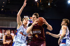 Cameron Bairstow of the Bullets takes on the defence against the Adelaide 36ers. Photo / Getty Images