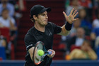Andy Murray plays against Roberto Bautista Agut during the Shanghai Masters. Photo / Getty Images