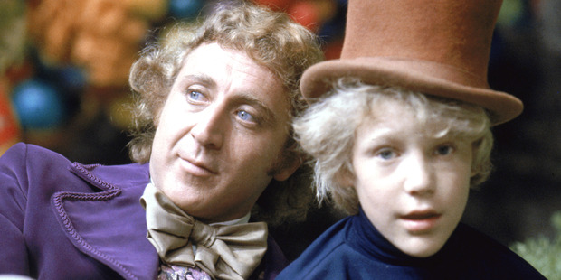 Gene Wilder as Willy Wonka and Peter Ostrum as Charlie Bucket on the set of the fantasy film 'Willy Wonka & the Chocolate Factory', based on the book by Roald Dahl, 1971. Photo / Getty