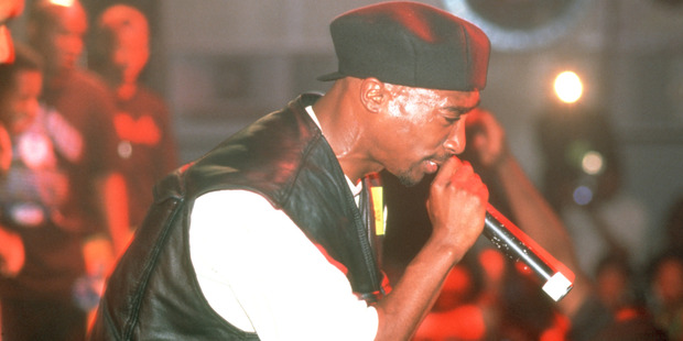 Rapper Tupac Shakur performs onstage at the Palladium on July 23, 1993 in New York, New York. Photo / Getty