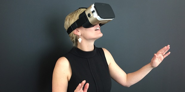 Users of virtual reality headsets immerse themselves in a different environment.