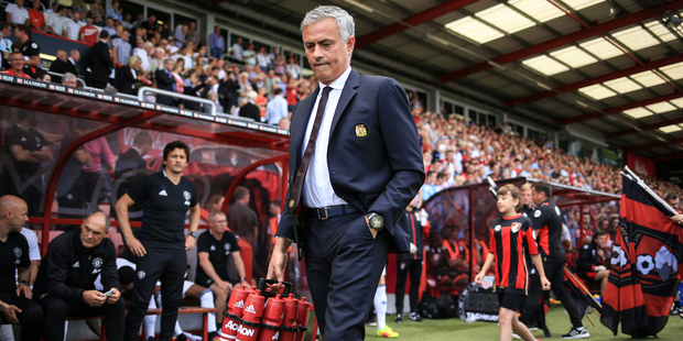 Manchester United manager Jose Mourinho thinks referee Anthony Taylor may be influenced by his Manchester bias. Photo / Photosport