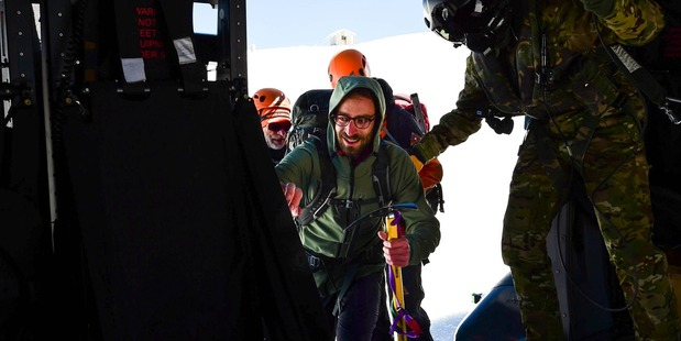 The 29-year-old Dutchman gave his rescuers a warm welcome. Photo / Supplied