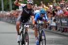 Hayden Roulston, seen winning his last New Zealand road title in 2014, will ride in the Tour of Southland starting next weekend. Photo / Pete Bruggeman.