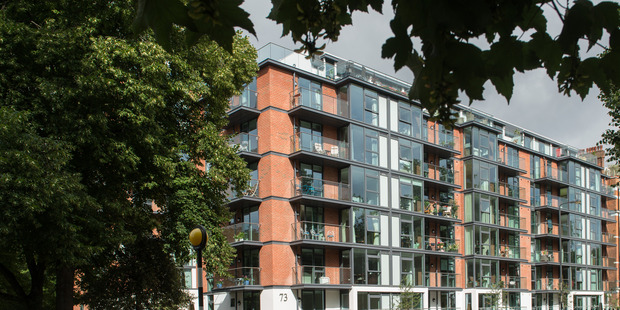 Battersea Place, London's first New Zealand-style luxury retirement village developed by LifeCare Residences, founded by Kiwi Cliff Cook.