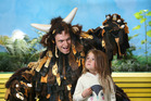 The Gruffalo and 4 year old Olivia Page. Photo/John Borren