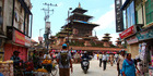 Markets on the streets leading to a temple in Kathmandu, Nepal. Photo / Crooked Compass