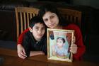 Roshna Kandel and son Saphal Singh in Papakura. She wants to bring her elder son Santosh to NZ. Photo / Doug Sherring