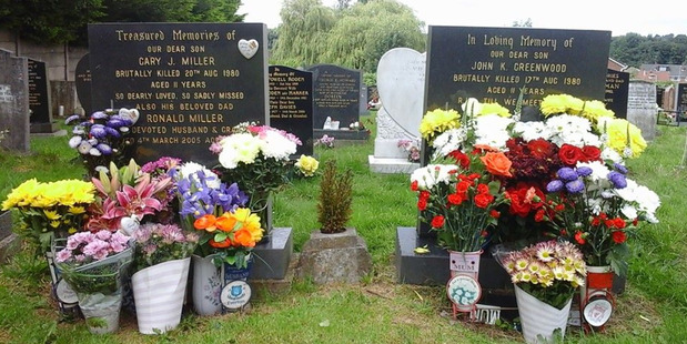 The graves of Gary Miller and John Greenwood. Photo / Facebook
