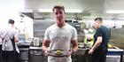 Nick Honeyman makes beef tartare for Greg. Photo / Doug Sherring