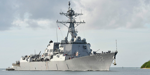 Americans sending the USS Sampson to Auckland next month. Photo / U.S. Navy