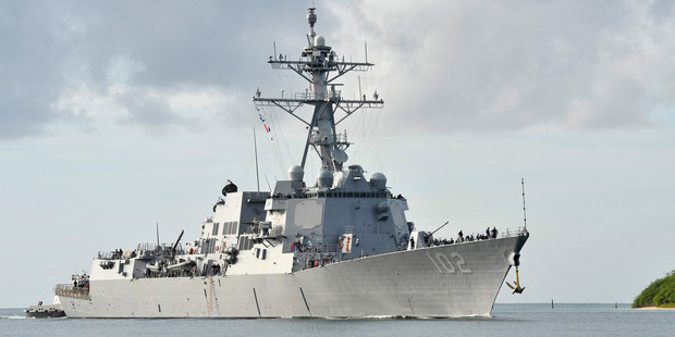 The fact that the US has accepted entry on New Zealand's terms at long last can be seen as a victory if we wish, but the USS Sampson should be greeted as an old friend. Photo / U.S. Navy