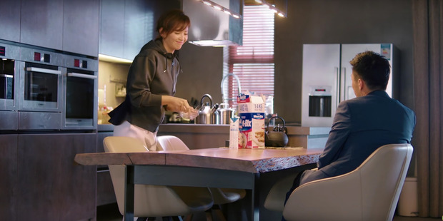 Scene from popular television drama Ode to joy in China in which a couple sit down to a breakfast of Weetbix.