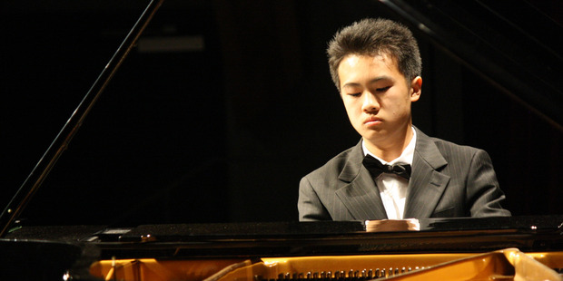Derek Long, second place-getter in last year's Ronisch Auckland Secondary Schools Piano Competition.