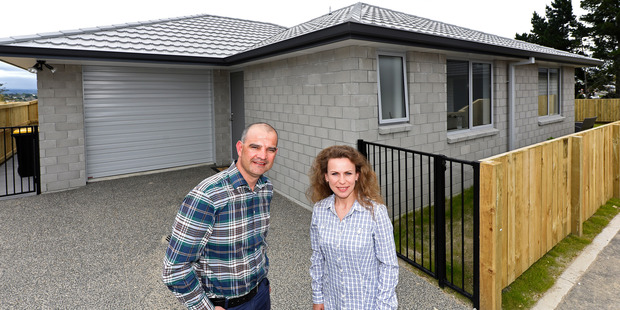 Classic builders local manager Paul Taylor and new home owner Tanya Sergeant. PHOTO/GEORGE NOVAK