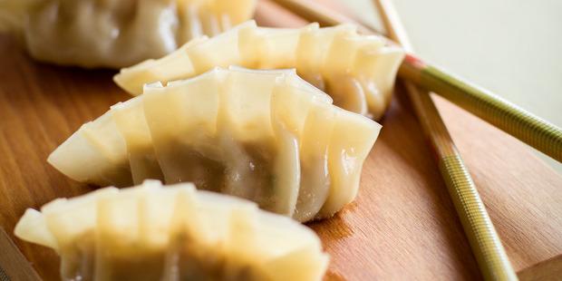 Kasey and Karena's pork dumplings.