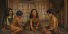 Gottfried Lindauer, Maori children playing knucklebones - a game they call koruru or ruru.
