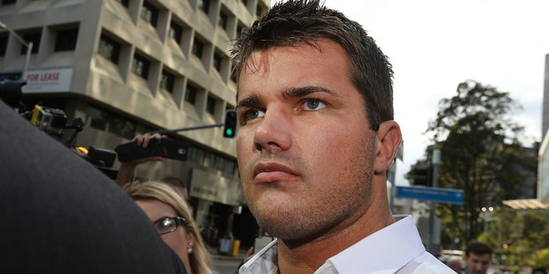 Gable Tostee departing the Brisbane Supreme court today after being aquitted of murder. Photo / News Corp Australia