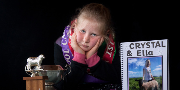 Loading Ella Ensor was left distraught and horrified after her pet lamb crystal died after being repeatedly kicked by a youth on a school calf day. Photo/Andrew Warner