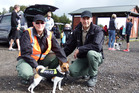 BTG 20Oct16 - WBOPDC Animal Services staff Betty Hall, left, mascot Alfie Hall, and Peter Hrstich.