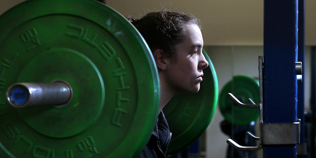 WORLD CLASS: Frances Lloyd back training in Tauranga after her outstanding performances at the world cup in Hungary. PHOTO/JOHN BORREN