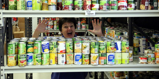 Linda Taumoeanga is rapt with the success of Whanganui's 25th annual food drive. Photo Stuart Munro