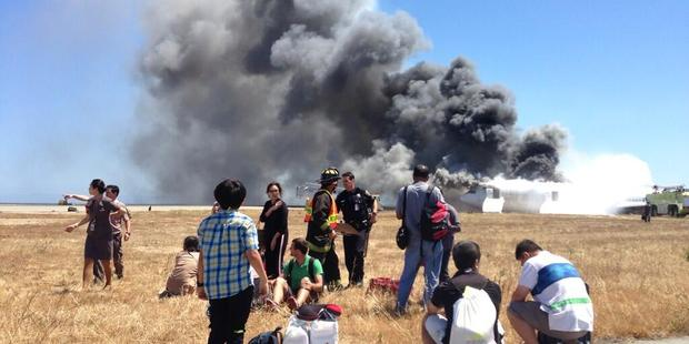 An Asiana Airlines aircraft crashed after touching down short of San Francisco Airport in 2013.