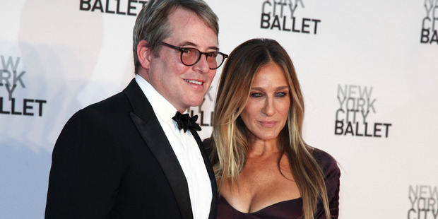 Matthew Broderick and his wife Sarah Jessica Parker. Photo / AP