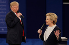 Donald Trump said he and Hillary Clinton should be required to take drug tests before the third presidential debate. Photo / AP