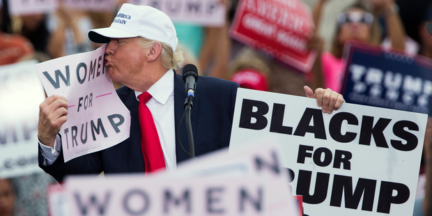 Did you laugh when Donald Trump said no one has more respect for women than he does? Photo / AP