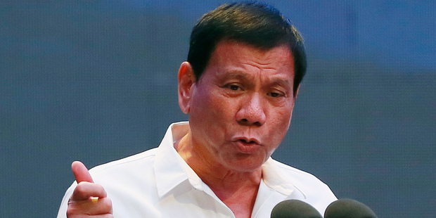President Rodrigo Duterte has arrived in Beijing for four days, with the aim of engaging in dialogue and improving relations with China. Photo / AP