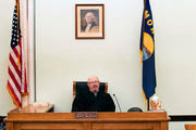 Montana state District Judge John McKeon is interviewed in his courtroom in Malta, Montana. McKeon has announced plans to retire in November, 2016. Photo / AP