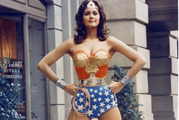 Wonder Woman was brought to life in a television series in the 1970s starring former beauty queen Lynda Carter, who attended today's ceremony at the UN. Photo / AP