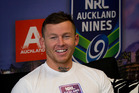 Todd Carney in Auckland doing promotional work for the NRL Auckland Nines in 2013. Photo / Sarah Ivey