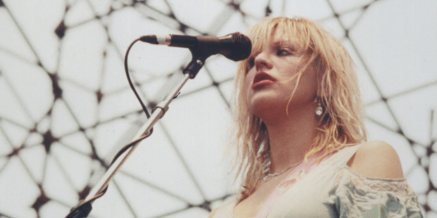 Courtney Love performing at the Big Day Out in 1995.