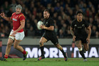Aaron Cruden, in action against Wales earlier this year, is off contract next year and would be allowed to leave after the Lions series. Photo / NZ Herald.