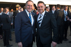 Prime Minister John Key will lead a delegation to India next week - including former Black Caps captain Brendon McCullum. New Zealand Herald Photograph by Brett Phibbs.